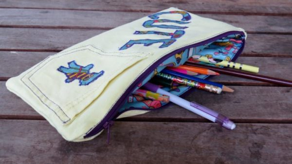 Funky Pencil Cases from Upcycled Jeans – An Upcycle Tutorial Clothing Do-It-Yourself Ideas