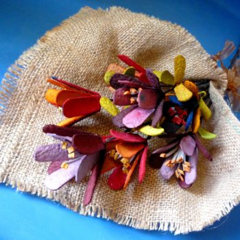 """""""Get well soon"""" Flower from Upcycled Egg Carton & Branches"""