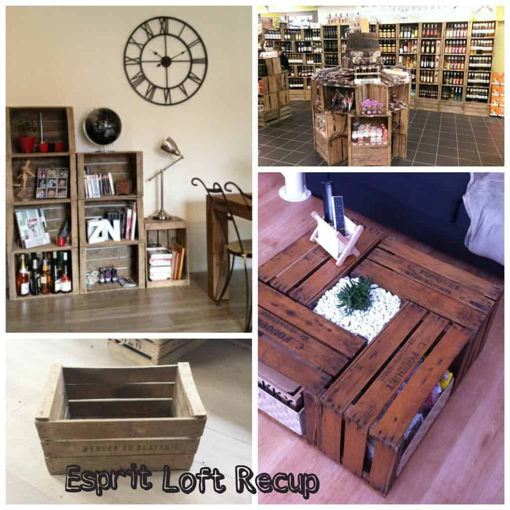 Cr ations modulables en caisses pommes upcycled apple wooden crates as modular furniture - Caisse apple ...