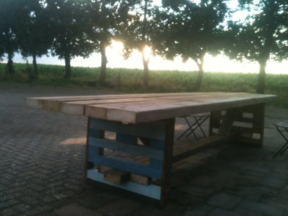 Recycled Shed Table