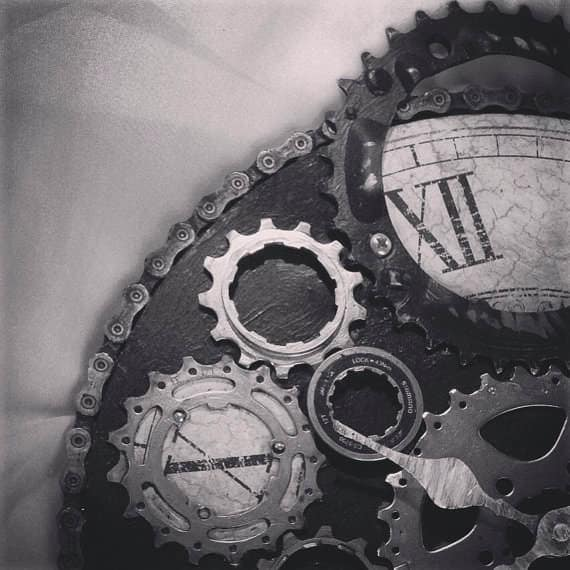 Upcycled Bike Parts Into Industrial Clock Bike & Friends