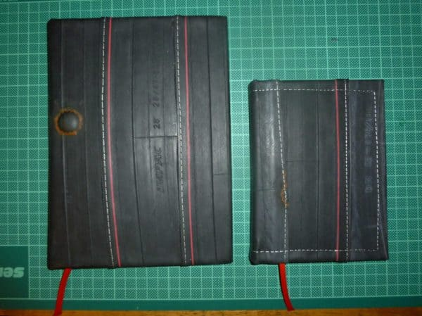 Bookbinding With Recycled Bicycle Tube Bike & Friends Do-It-Yourself Ideas