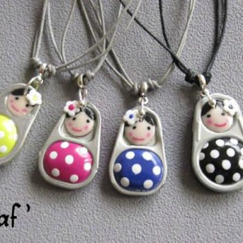 Soda Can Pop Tabs + Polymer Clay = Little Dolls Jewelry