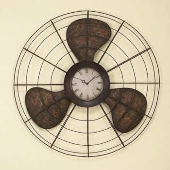 Old Fan Wall Clock