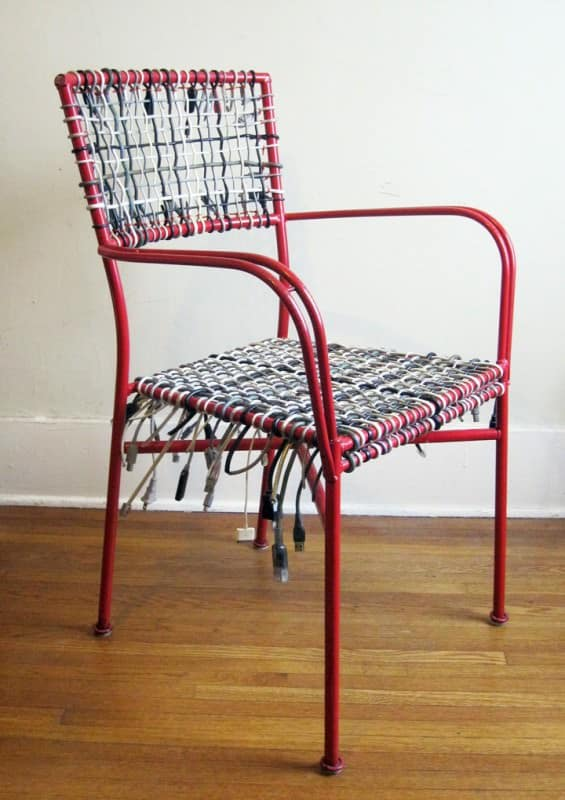 Upcycled Cable Chair Recycled Electronic Waste Recycled Furniture