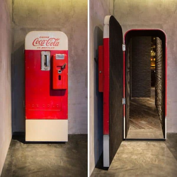 Old Coca Cola Fridge Repurposed into a Door Home Improvement