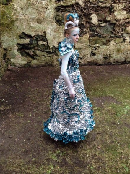 Junk Kouture: Recycled Bottle Caps Dress