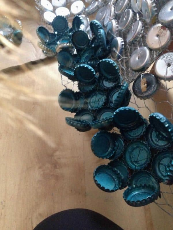 Junk Kouture: Recycled Bottle Caps Dress Clothing