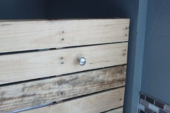 Bathroom Shelf Made From Repurposed Pallet Recycled Pallets