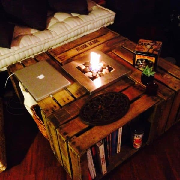 25 ways of reusing old wooden crates in your interior - Table basse avec caisse en bois ...