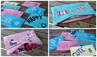 Funky Pencil Cases from Upcycled Jeans – An Upcycle Tutorial
