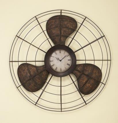 Old Fan Wall Clock