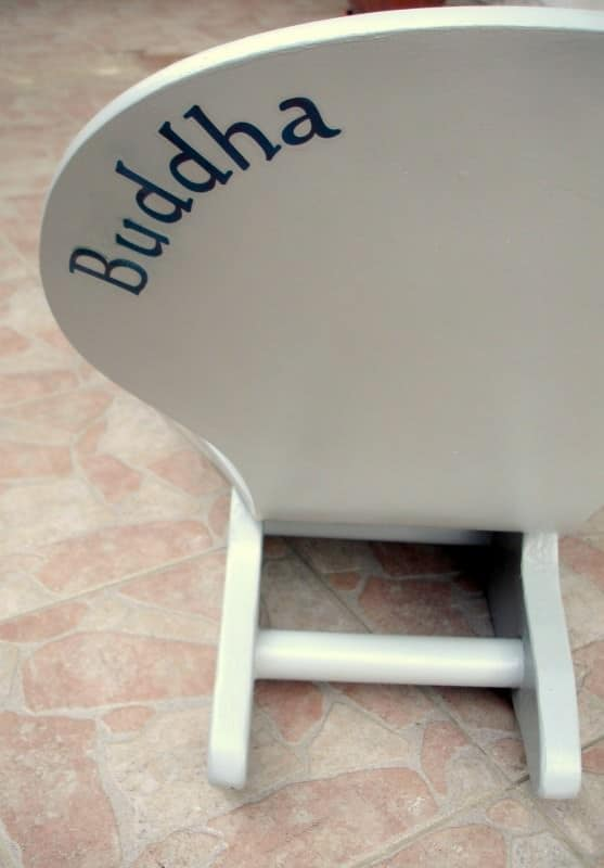 Fauteuil bascule buddha upcycled rocking chair buddha recycled ideas - Rocking chair jardin ...