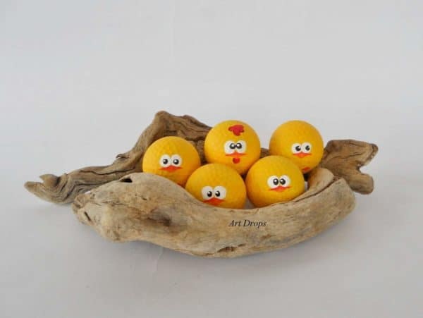 Cute Little Chicks from Upcycled Golf Balls Do-It-Yourself Ideas Recycled Sports Equipment