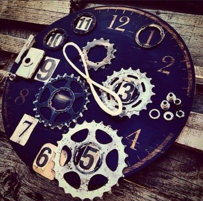 """Eternal Now"" Bike Enthusiast Clock"