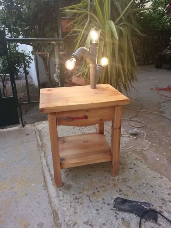 Tube Light Table Recycled Furniture