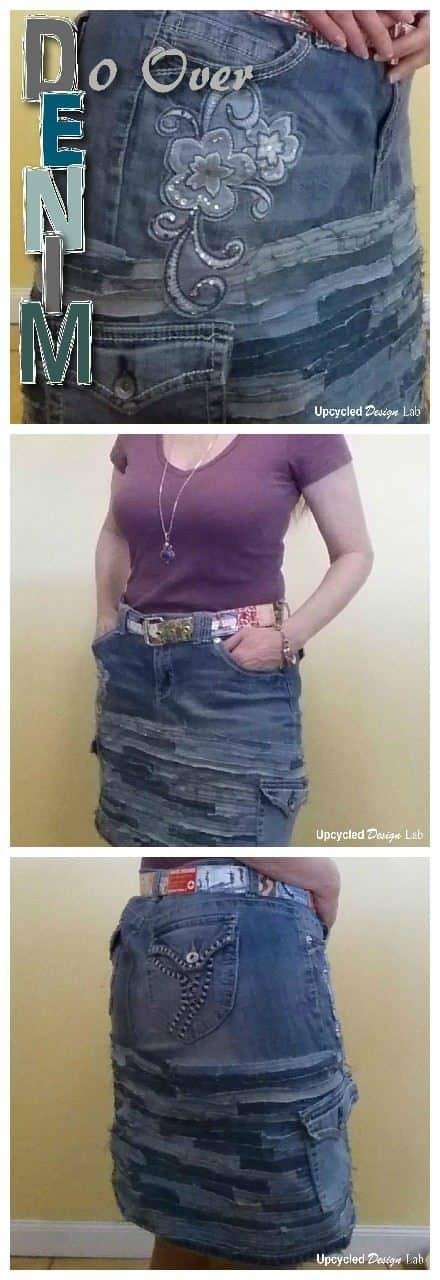 Denim Do Over - Upcycled Denim Skirt