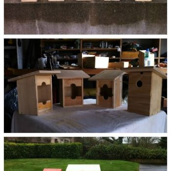 Upcycled Wine Bottle Crates Into Birdhouses