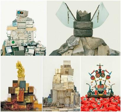 Sculptural Installations From Landfill Waste by Vincent Skoglund