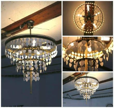 Upcycled Guitar Picks And Drum Stick Into Beautiful Chandelier