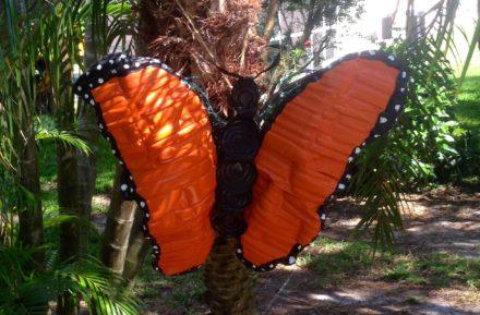 Bottle Art Illuminated Butterfly