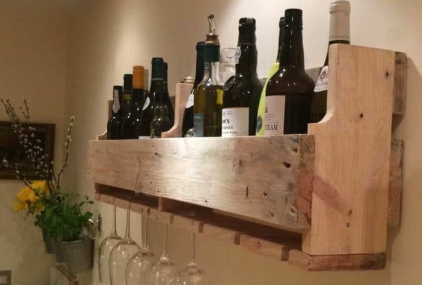 Simple Reclaimed Pallet Wine Rack Recycled Pallets