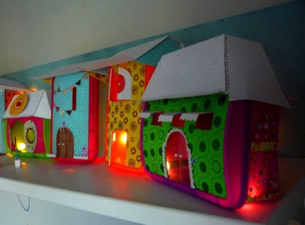 Little Lightning Town From Ice Cream Containers Lamps & Lights Recycled Packaging