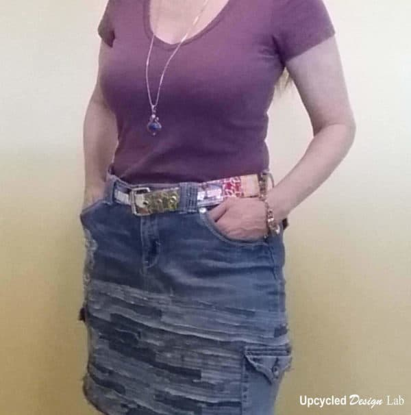 Denim Do Over - Upcycled Denim Skirt Clothing Do-It-Yourself Ideas