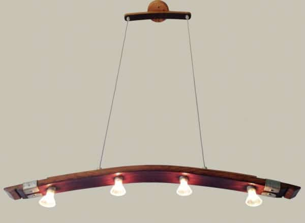 Saba, Recycled Wine Barrel Stave Kitchen Island Light Lamps & Lights