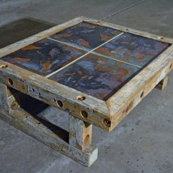 Reclaimed Industrial Timber Coffee Table