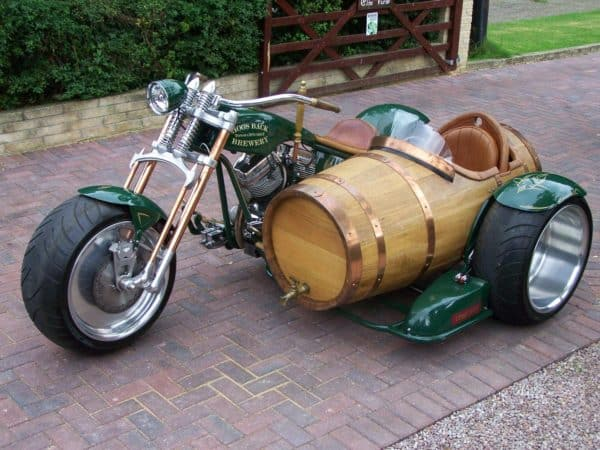 Wine Barrel Sidecar Bike & Friends