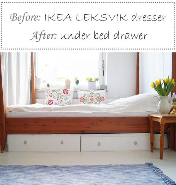 Under Bed Drawers From Old Dresser Do-It-Yourself Ideas Recycled Furniture