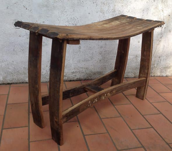 From An Old Port Wine Barrel To An Art-Deco Stool Recycled Furniture Wood & Organic