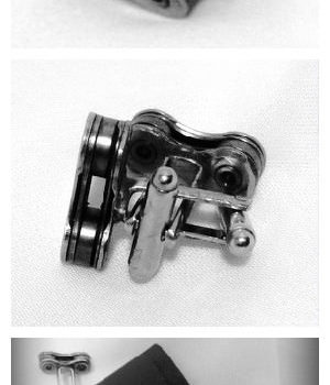 Upcycled Custom Bike Chain Cufflinks