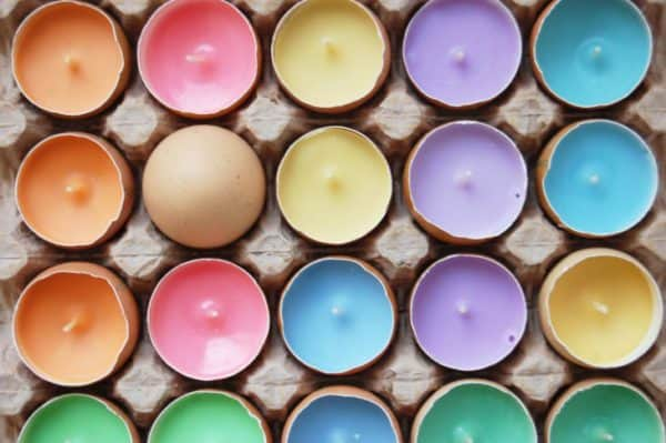 Real Eggshells Candles Accessories Do-It-Yourself Ideas