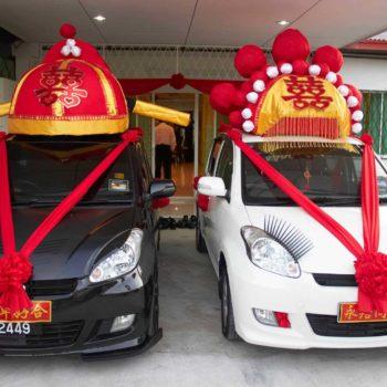Homemade Chinese Wedding Car Decoration
