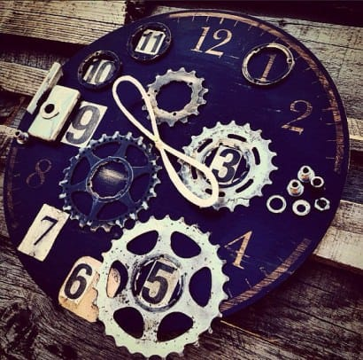 """Eternal Now"" Bike Enthusiast Clock"