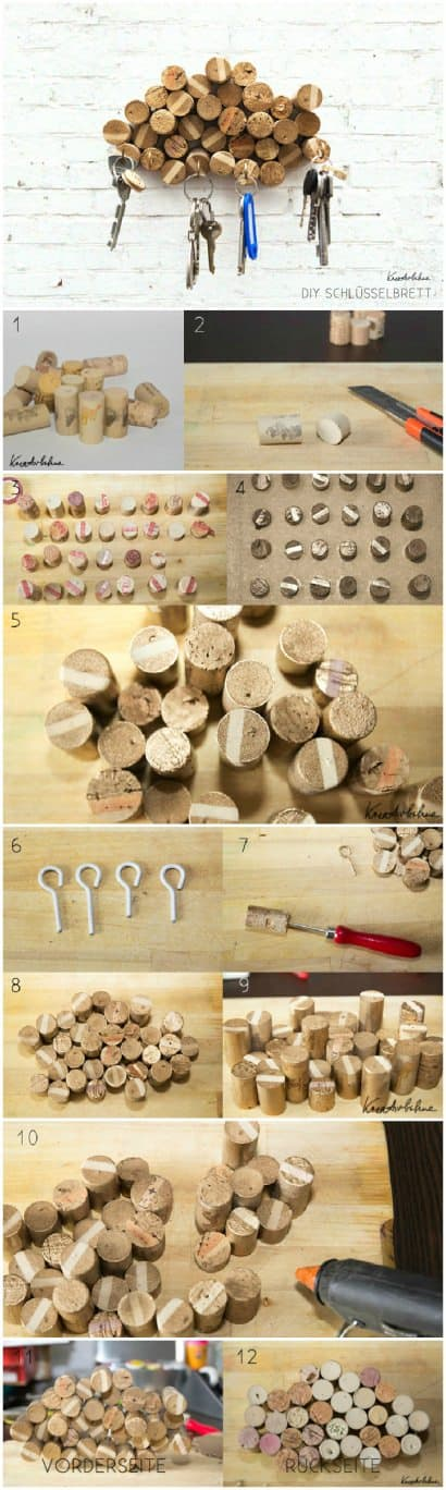 DIY: Upcycled Corks Key Rack