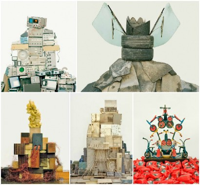 Sculptural Installations From Landfill Waste by Vincent Skoglund