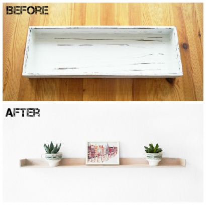 From an Old Tray to a New Shelf