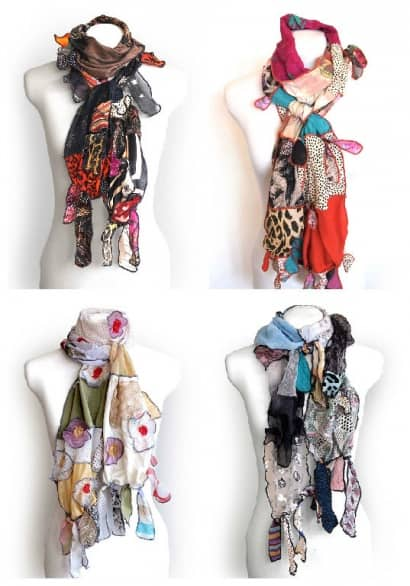 Kesidov Upcycled Silk Scarves