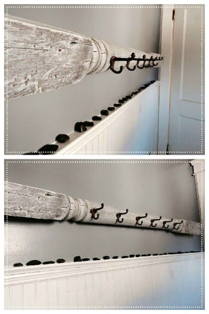 Upcycled Wood Column Into Coat Rack