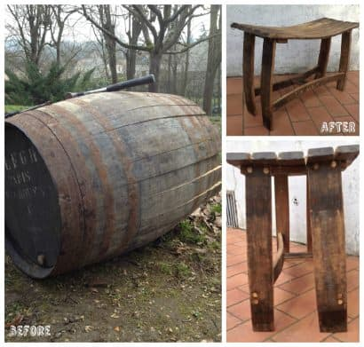 From An Old Port Wine Barrel To An Art-Deco Stool