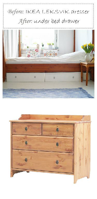 Under Bed Drawers From Old Dresser