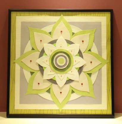Mandala From Recycled Paper