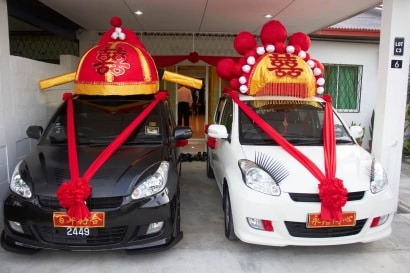 Homemade Chinese Wedding Car Decoration