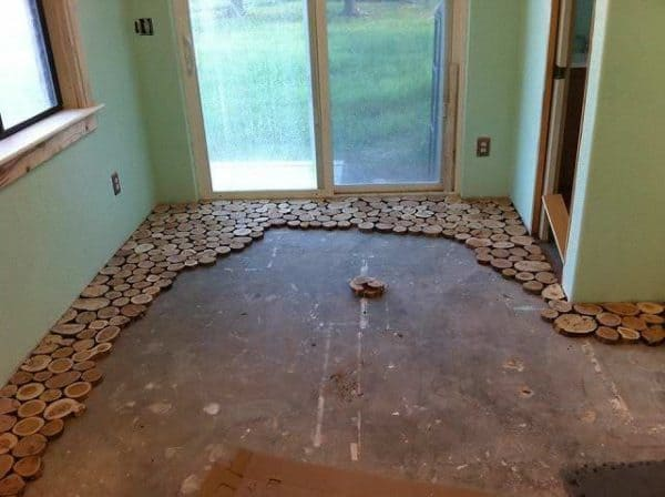 Gorgeous Cordwood Flooring by Sunny Do-It-Yourself Ideas Wood & Organic