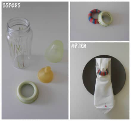 Napkin Ring From Nursing Bottle Parts