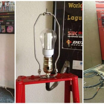 DucLamp: Floor Lamp Made From Upcycled Ducati ST4 Frame