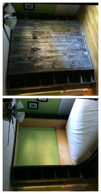 Pallet Wood Murphy Bed